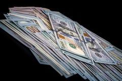 100 dólar americano isolado Imagem de Stock