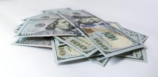 Dólar americano no fundo branco Foto de Stock
