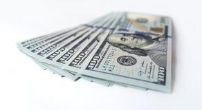 Dólar americano no fundo branco Fotografia de Stock Royalty Free