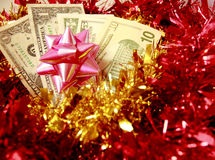 Dólar americano no Natal Fotos de Stock