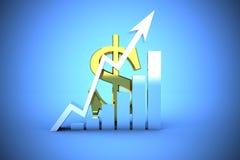 Dólar americano que escala acima Fotografia de Stock Royalty Free
