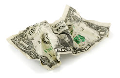 Dólar arrugado Foto de archivo libre de regalías