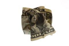Dólar arrugado Fotos de archivo libres de regalías