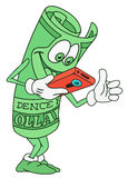 Dólar Bill Character ilustración del vector