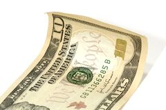Dólar Bill de diez Fotos de archivo libres de regalías