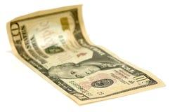 Dólar Bill de diez Imágenes de archivo libres de regalías