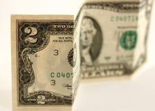 Dólar Bill de dos Foto de archivo libre de regalías