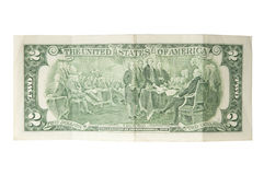 Dólar Bill de dos Imagenes de archivo