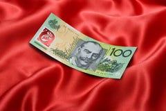 Dólar Bill del australiano ciento Imágenes de archivo libres de regalías