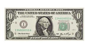 Dólar Bill sin valor Imágenes de archivo libres de regalías