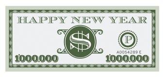Dólar Bill Vector Design de la Feliz Año Nuevo libre illustration