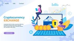Dólar Bitcoin Ethereum del intercambio de Cryptocurrency ilustración del vector