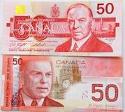 Dólar canadiano forte Fotografia de Stock Royalty Free