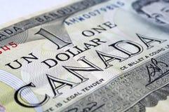 Dólar canadiense Imagen de archivo libre de regalías