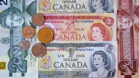 Dólar canadiense fotografía de archivo libre de regalías