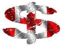 Dólar canadiense de Grunge Foto de archivo libre de regalías