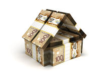 Dólar canadiense del concepto de Real Estate stock de ilustración