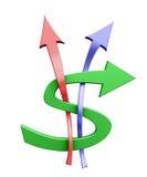 Dólar colorido Imagem de Stock