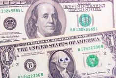 Dólar com olhos grandes Foto de Stock Royalty Free