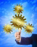 Dólar como a âncora para o Euro, Franc And Pound fotografia de stock royalty free
