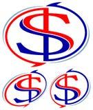 Dólar con las flechas Imagen de archivo libre de regalías