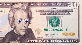 Dólar con los ojos grandes Foto de archivo libre de regalías