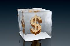 Dólar congelado ilustração do vetor