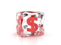 Dólar congelado Foto de archivo