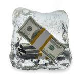 Dólar congelado Imágenes de archivo libres de regalías