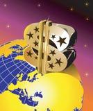 Dólar connosco bandeira ilustração royalty free