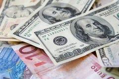 Dólar contra o euro Imagem de Stock Royalty Free