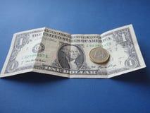 Dólar contra o euro Fotos de Stock Royalty Free