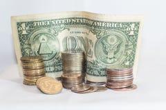 Dólar contra o rublo Fotografia de Stock