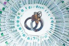Dólar contra rublo Imagenes de archivo