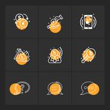 dólar, crypto, hacha, corporativa, mensaje, charla, llave, móvil libre illustration