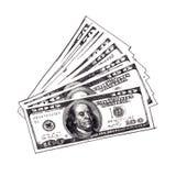 Dólar cuentas Fotos de archivo libres de regalías
