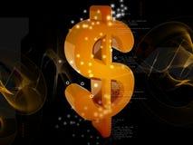 dólar 3D stock de ilustración