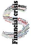 Dólar da crise ilustração do vetor