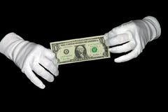 Dólar da preensão das mãos foto de stock royalty free