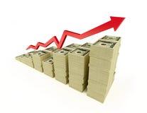 Dólar da seta Imagens de Stock Royalty Free