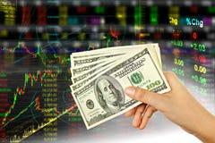 Dólar da terra arrendada da mão Foto de Stock Royalty Free