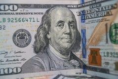 dólar de 100 americanos Foto de archivo
