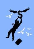 Dólar de aumentação ilustração do vetor