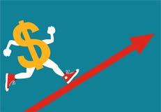 Dólar de aumentação Fotografia de Stock