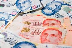 Dólar de Cingapura, cédula Singapura no fundo branco foto de stock royalty free