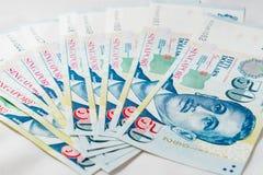 Dólar de Cingapura, cédula Singapura no fundo branco imagem de stock royalty free