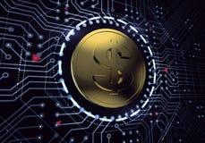 Dólar de Digitas Imagem de Stock