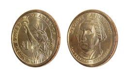 Dólar de EE. UU. George Washington de la moneda una Foto de archivo libre de regalías