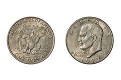 Dólar de Eisenhower do Estados Unidos de 1972 foto de stock