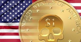 Dólar de Estados Unidos ilustración del vector
